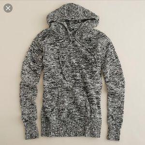 • J Crew Gray Wool Marled Pullover Hoodie •